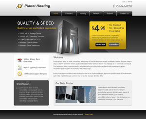 Planet Hosting html template