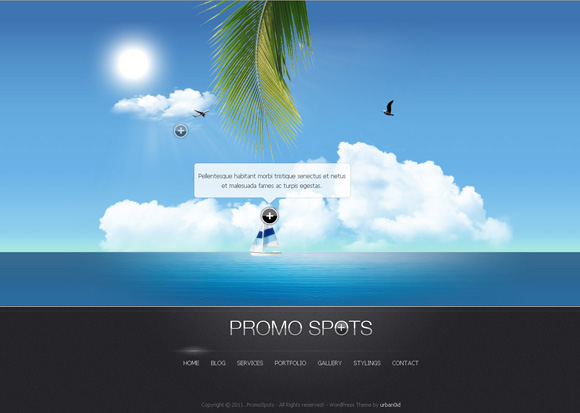 promo spots wordpress themes