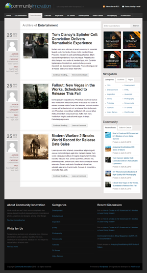 Community Innovation wordpress themes