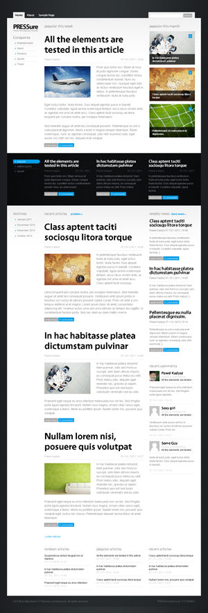 PRESSure wordpress theme
