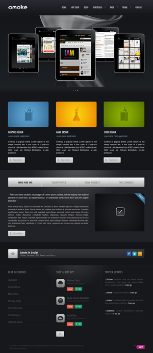 Smoke Bussiness wordpress theme