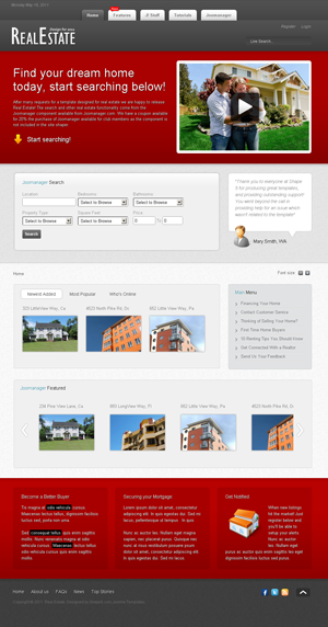S5 Real Estate Joomla template