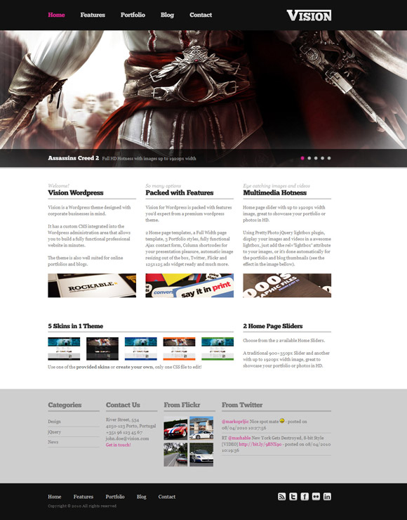 vision wordpress themes