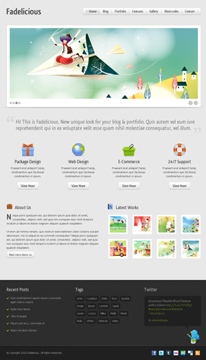 Fadelicious WordPress themes