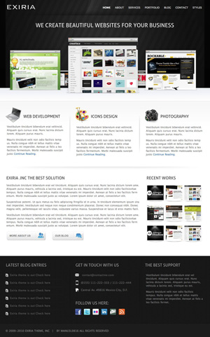 Exiria Portfolio and Business WordPress Theme