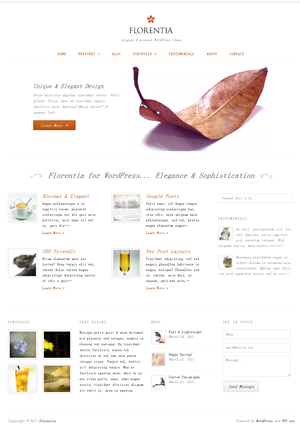 Florentia WordPress theme