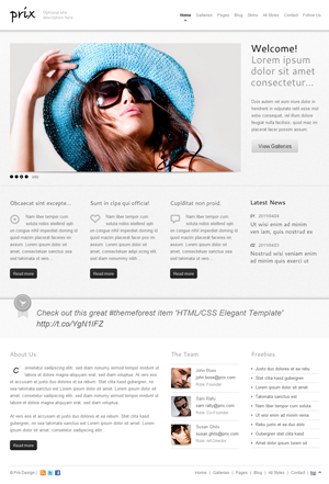 htmlcss prix site template