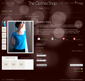 the clothes shop wordpress ecommerce theme