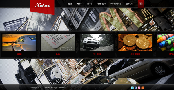Xebax wordpress theme
