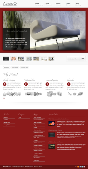 avisio business and portfolio wordpress theme