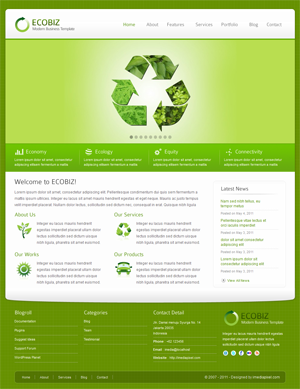 ECOBIZ Modern Business WordPress Theme