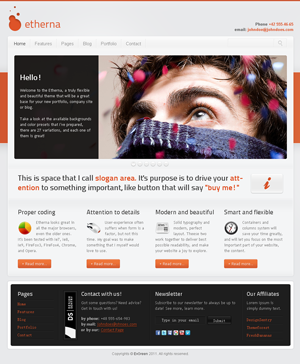 etherna powerful and flexible htmlcss template