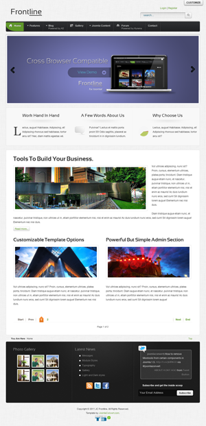 frontline a clean professional joomla template