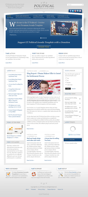it political joomla template