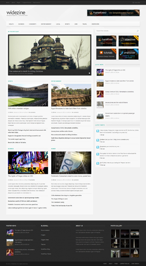 widezine magazine news editorial community theme