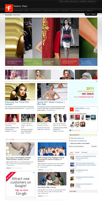 Fashion Wear Premium Fashion WordPress Theme