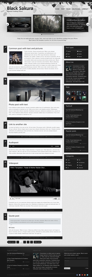 Black Sakura WP theme