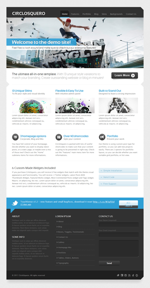 CircloSquero Premium WordPress Theme