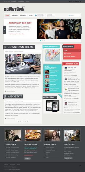 YT downtown wordpress theme