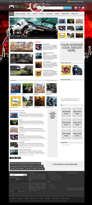 Game Speed WordPress Themes