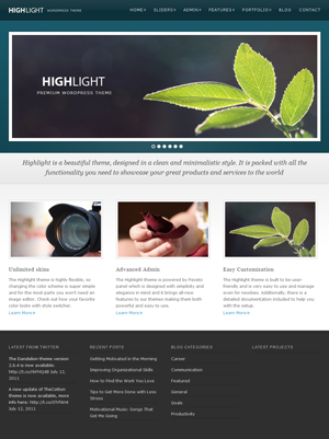 Highlight  Premium WordPress Theme