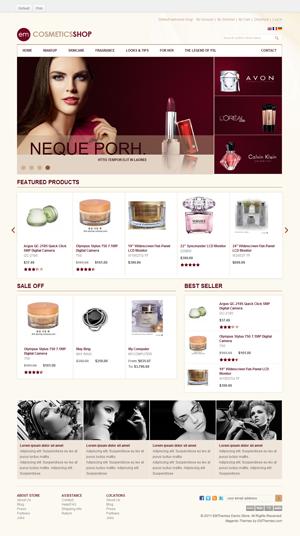EM Cosmetics Shop Magento Theme