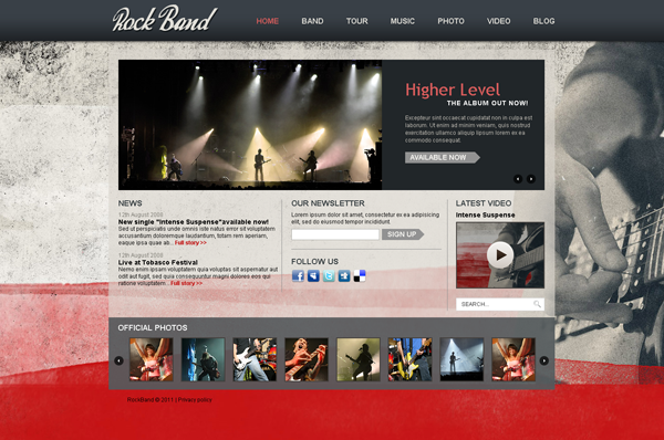 Rock Band Joomla template