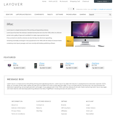 Layover OpenCart theme