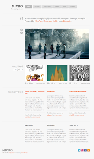 micro wordpress theme