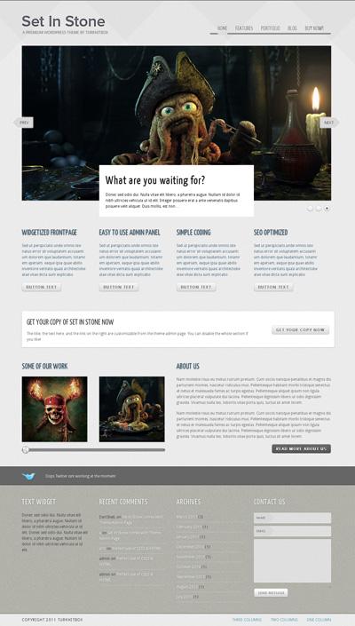 Set in Stone Detailed & Modern WordPress Theme