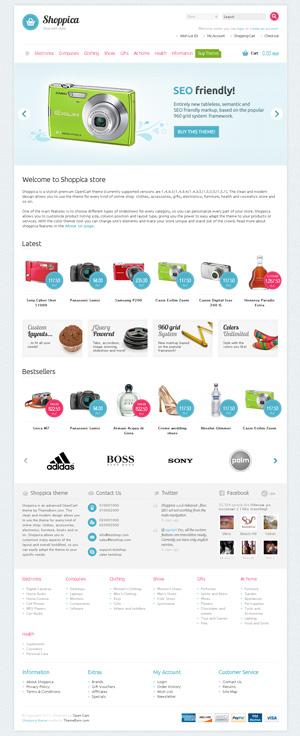 Shoppica,OpenCart模板