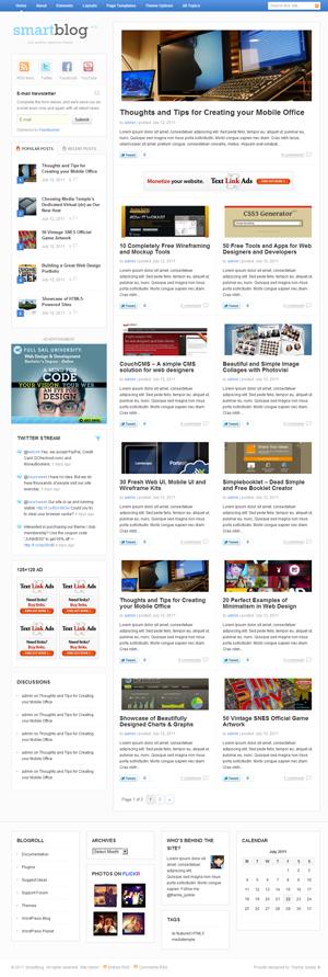 Smartblog ThemeJunkie WordPress Theme