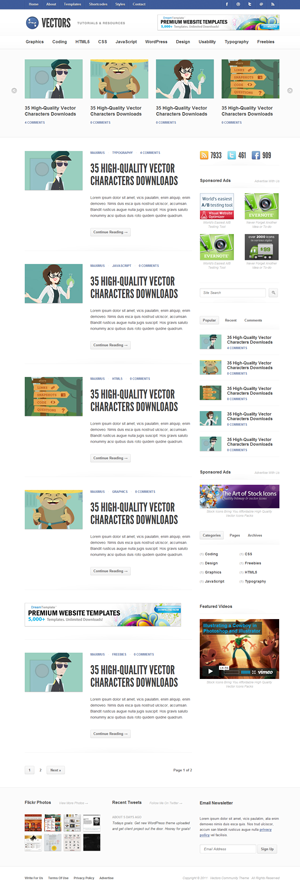 Vectors - Community WordPress Theme
