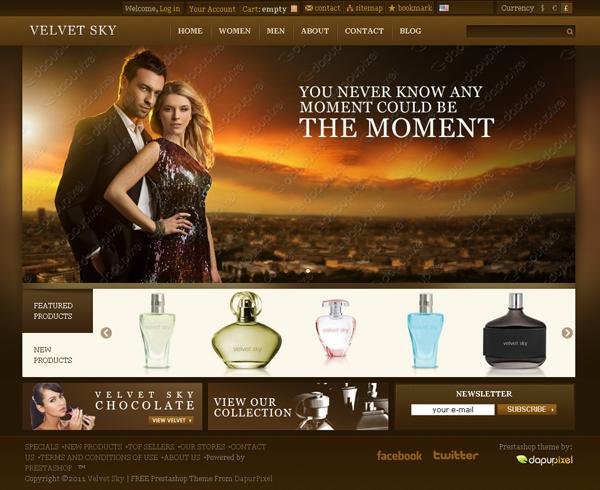 Velvet Sky Perfume wordpress Shop