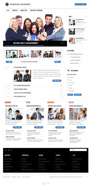 GK Financial Business Joomla template