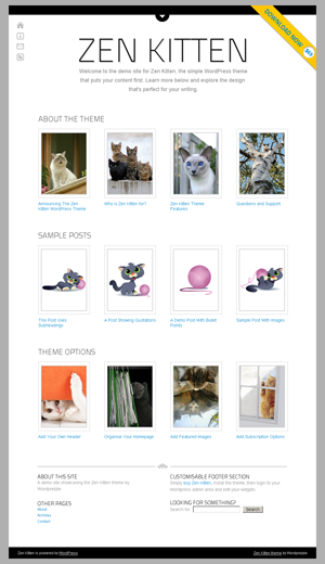 Zenkitten WordPress theme