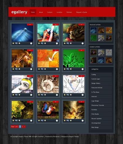 ET eGallery WordPress theme