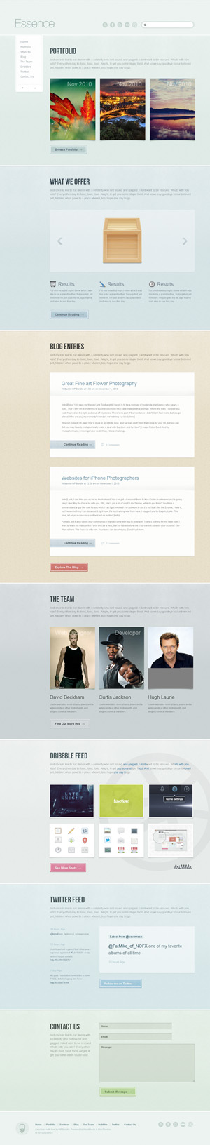 essence wordpress theme