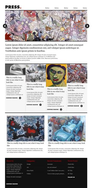 Press Themeforest Minimal News Theme