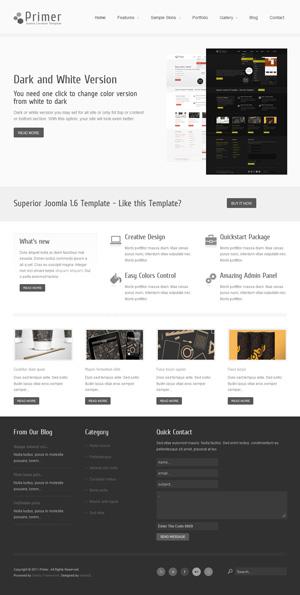 Primer Creative Joomla Template