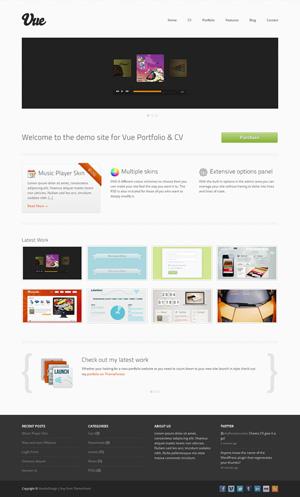 vue portfolio cv htmlcss template