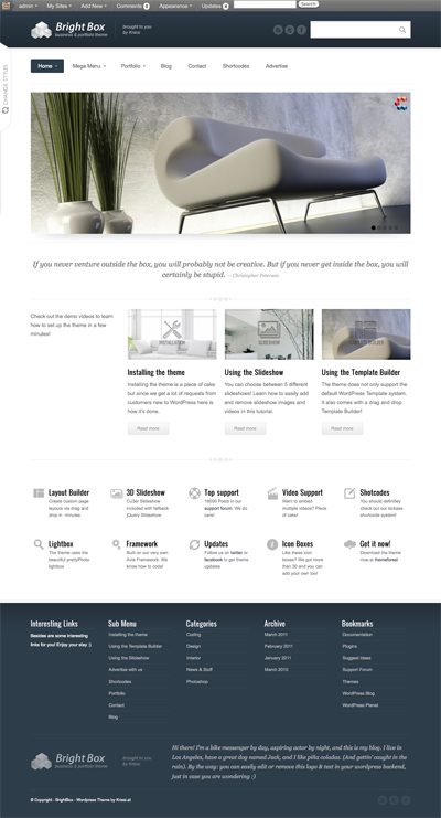 BrightBox wordpress theme
