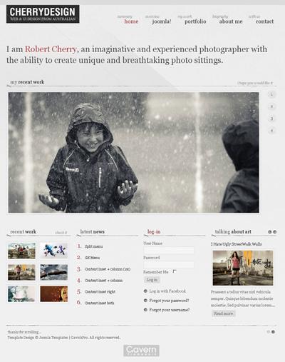 CherryDesign Joomla 1.5&1.7 template