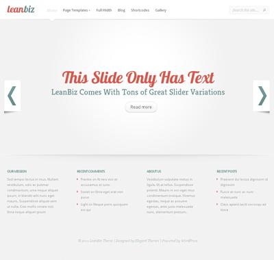 LeanBiz WordPress Theme