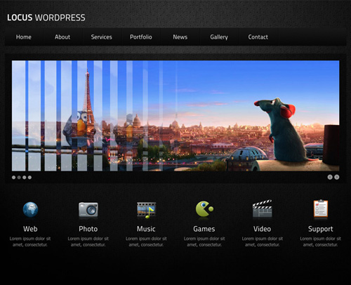 Locus One Page WordPress