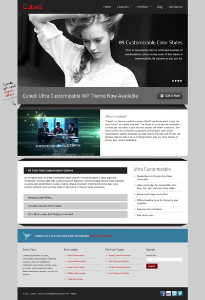 Cubed Ultra Customizable Premium WP Theme