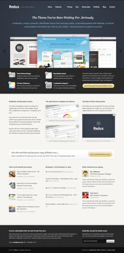 Redux Business & Portfolio WordPress Theme