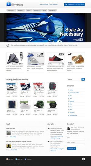Sofa SuppaStore WordPress driven webshop