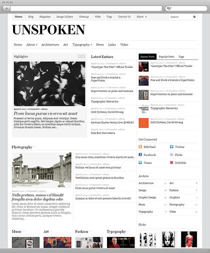 Unspoken wordpress theme