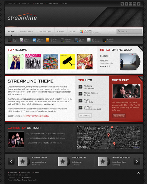 yoo streamline wordpress theme